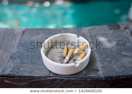 Graniet asbak sigaar donkere mode leven Stockfoto © OleksandrO