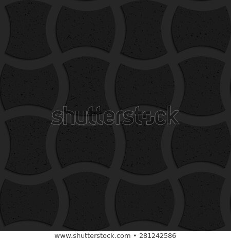 Textured black plastic arched solid rectangles Stock photo © Zebra-Finch