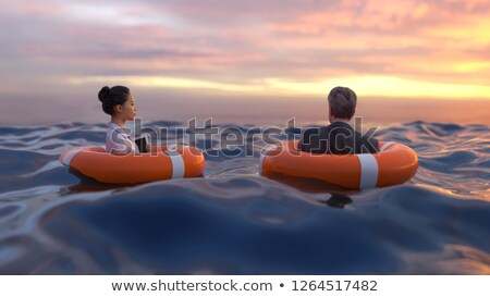 Life buoy for drowning rescue and help support Stock photo © LoopAll