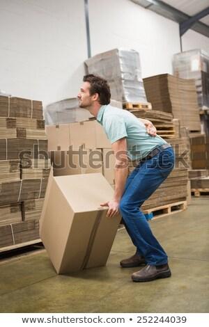страдание · картона · коробки · зрелый - Сток-фото © wavebreak_media