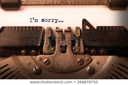 I'm sorry message Stock photo © fuzzbones0