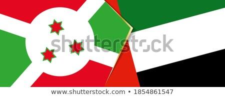 Emirados Árabes Unidos Burundi bandeiras quebra-cabeça isolado branco Foto stock © Istanbul2009