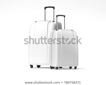 Kék utazás táska izolált fehér háttér Stock fotó © tetkoren