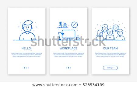 Kullanıcı mavi vektör ikon dizayn web Stok fotoğraf © rizwanali3d