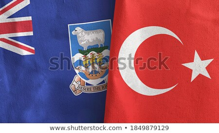 Turkey and Falkland Islands Flags Stock photo © Istanbul2009