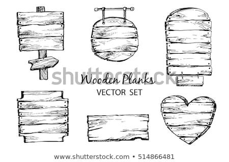 сердце · старые · двери · любви · древесины - Сток-фото © frescomovie