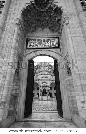 Stock fotó: Bejárat · mecset · Isztambul · épület · építkezés · ajtó