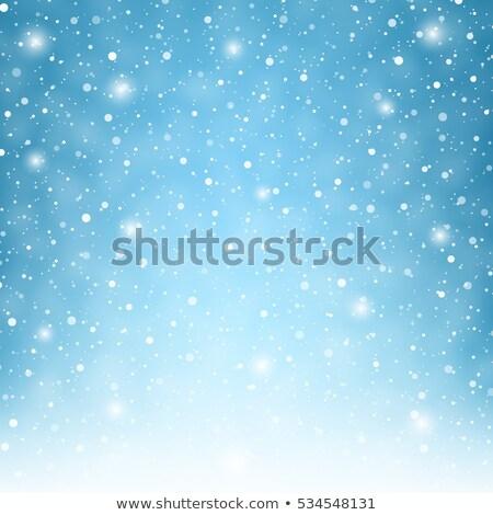 Niebieski christmas płatki śniegu wersja streszczenie śniegu Zdjęcia stock © Valeriy