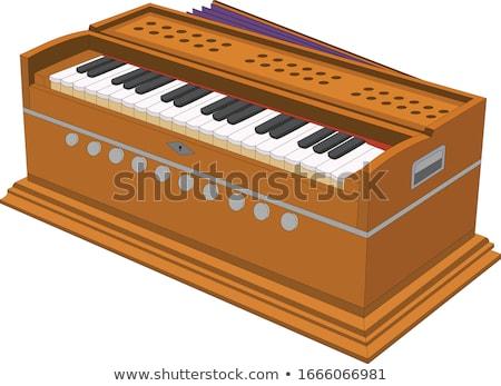 Vektor billentyűzet háttér kulcs hang fehér Stock fotó © Morphart