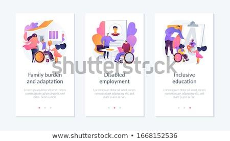 adaptation for disabled social support concept stock photo © tashatuvango