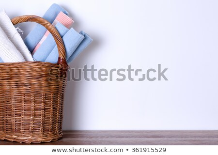 Mats in Basket Against White Wall with Copy Space Stock photo © ozgur