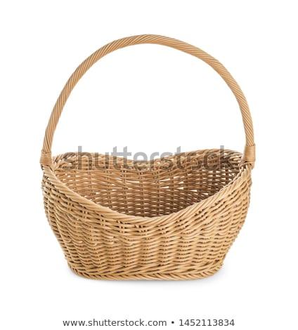wicker basket isolated on white stock photo © vapi