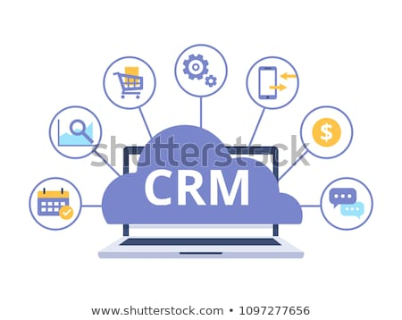 Crm icon ontwerp business financieren geïsoleerd Stockfoto © WaD
