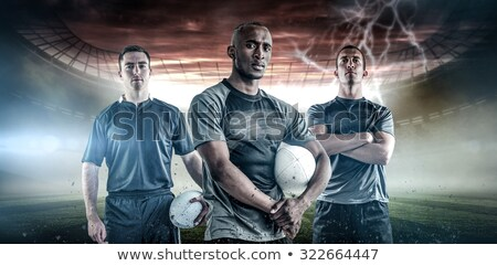 A frowning standing rugby player  Stock photo © wavebreak_media