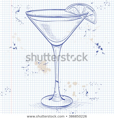 White Lady Cocktail on a notebook page Stock photo © netkov1