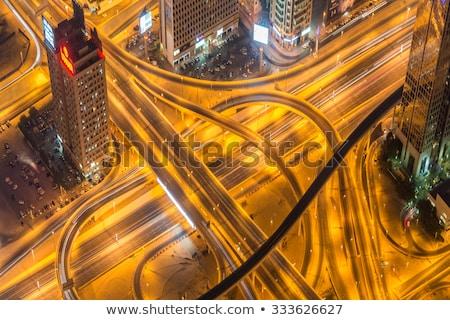 Dubai weg nacht hemel gebouw Stockfoto © Elnur