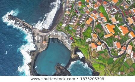 Híres kő Madeira óceán sziget víz Stock fotó © compuinfoto