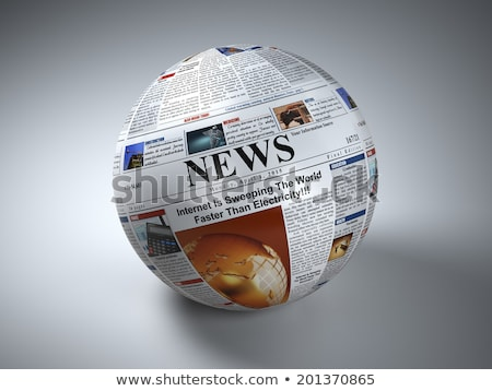Globe and Newspaper Stock photo © devon