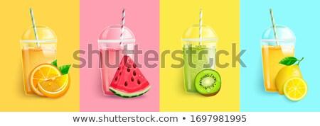Kiwi Fruit and Lemon Slice Stock photo © pictureguy