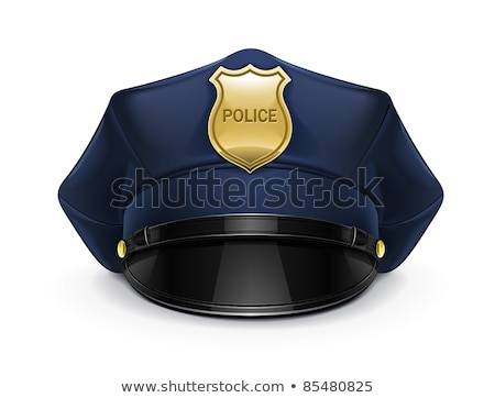 Police chapeau isolé originale taille Photo stock © dcwcreations