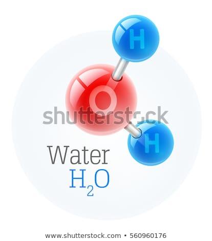water · formule · chemische · wetenschap · structuur · abstract - stockfoto © angelp