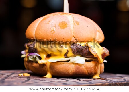 Hamburger with meat and cheese Stock photo © bluering