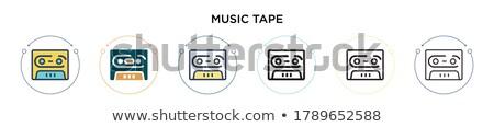 два Vintage лента музыки отмечает иллюстрация искусства Сток-фото © bluering
