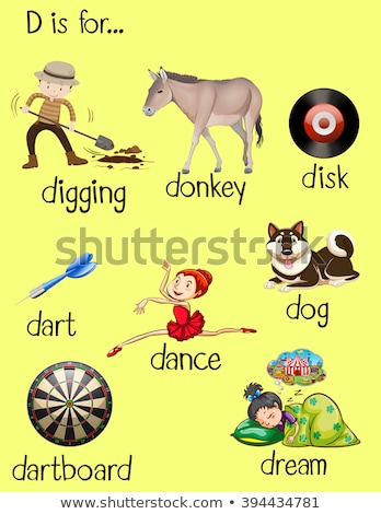 letter d and different words for it stock photo © bluering
