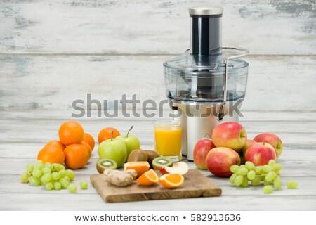 ストックフォト: 新鮮な · 果物 · ジュース · 食品 · 幸せ