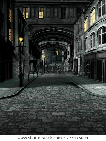 Rue vieux aube route bâtiment Photo stock © Digifoodstock