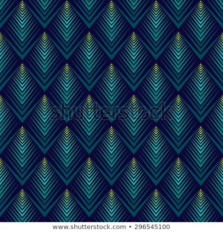 павлин Перу шаблон симметричный орнамент золото Сток-фото © blackmoon979