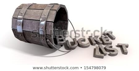 kova · liste · çekicilik · harfler · Metal · bağbozumu - stok fotoğraf © albund