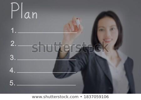 Businesswoman presenting marketing scheme on business presentati Stock photo © stevanovicigor
