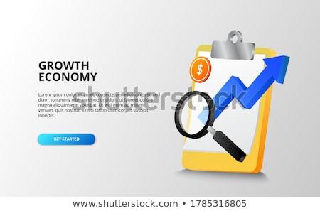 経済の 予測 クリップボード 3次元の図 文房具 ストックフォト © tashatuvango