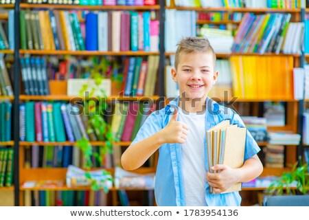 школьник Постоянный книгах белый портрет Сток-фото © wavebreak_media