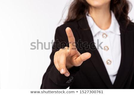 üzletasszony öltöny megérint láthatatlan interfész áll Stock fotó © wavebreak_media