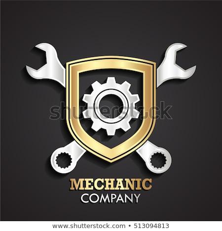 Auto Repair Concept. Golden Metallic Gears. 3D. Stock photo © tashatuvango