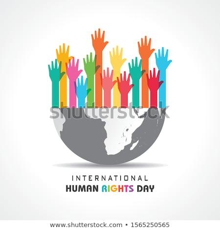10 diciembre derechos humanos día calendario tarjeta de felicitación Foto stock © Olena