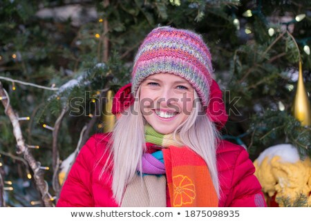 young real blond woman in scarf Stock photo © iordani