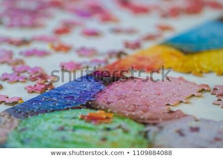 Compleet geschenk spel kinderen taak puzzel Stockfoto © Olena