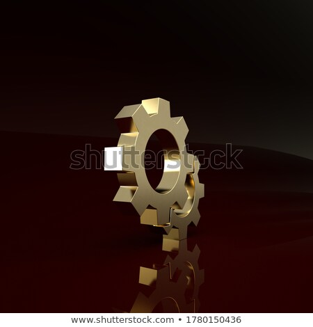 Gép karbantartás arany fogaskerekek mechanizmus fémes Stock fotó © tashatuvango