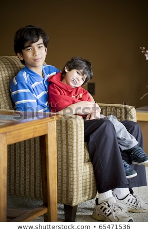 big brother taking care of disabled little brother stock photo © jarenwicklund