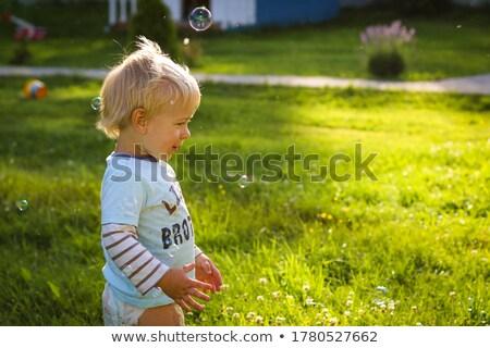 пару солнце пузырьки семьи весело цвета Сток-фото © IS2