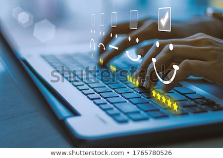 blue best management key on keyboard stockfoto © tashatuvango