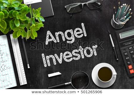 Angel Investor on Chalkboard in the Office. Stock photo © tashatuvango