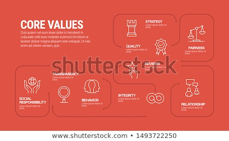 core values and business conception words in gears infographic o Stock photo © marinini