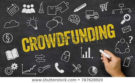 crowdfunding written on a blackboard with icons stock photo © zerbor