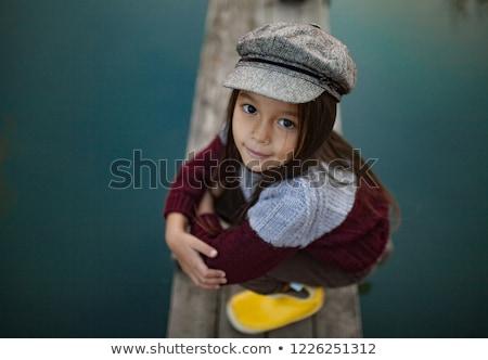 Asian girl fishing oudoors portrait stock photo © palangsi