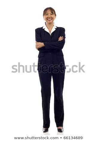 kobieta · interesu · skoki · business · woman · udany · garnitur - zdjęcia stock © deandrobot