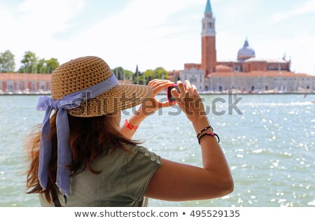 Woman in Venice, taking pictures Stock photo © IS2